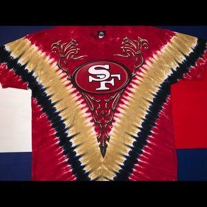 San Francisco 49ers tie-dye shirt